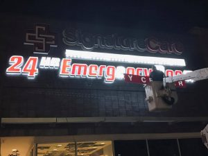 Electronic Signs collection lighted sign install 300x225