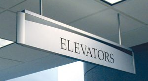 indoor hanging directional sign