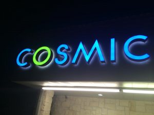 custom lighted storefront sign