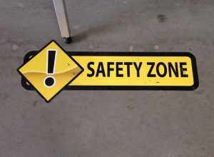 Safety Signs safety floor vinyl graphics 300x220